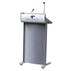 lectrum aero lectern logo microphone